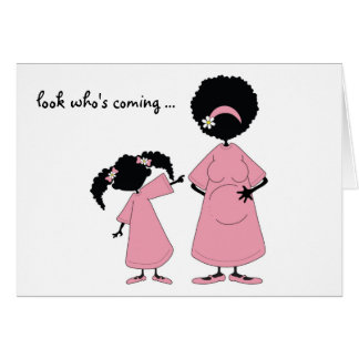 Pink: Look who's coming card