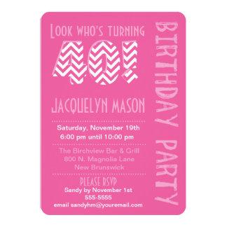 Pink Look Who's Turning 40 Birthday Invitation