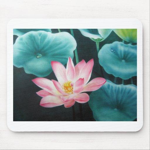 pink lotus 2 mouse pad