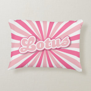 Pink Lotus Accent Pillow