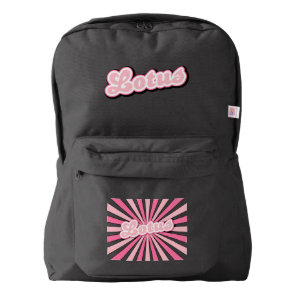 Pink Lotus Backpack
