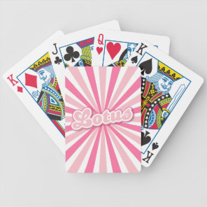 Pink Lotus Bicycle Playing Cards