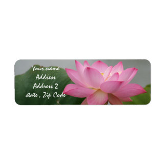 Pink Lotus Blossom Label