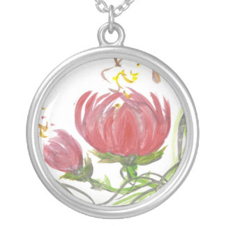 Pink Lotus Blossom Necklace