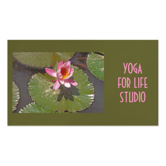Pink Lotus Blossom On Lily Pad Double-Sided Standard Business Cards (Pack Of 100)