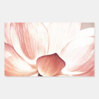 Pink Lotus Blossom Rectangle Sticker