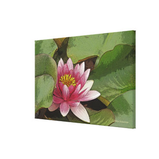 PINK LOTUS BLOSSOM STRETCHED CANVAS PRINT