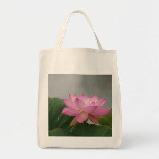 Pink Lotus Blossom Tote Bag