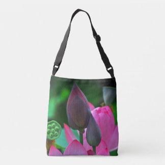 Pink Lotus Blossoms Crossbody Bag