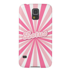 Pink Lotus Case For Galaxy S5