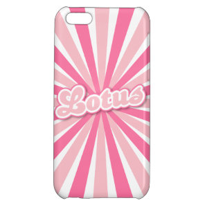 Pink Lotus Case For iPhone 5C
