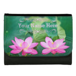 Pink Lotus Couple Inspiration Pair Pond Green Leaf Women's Wallets