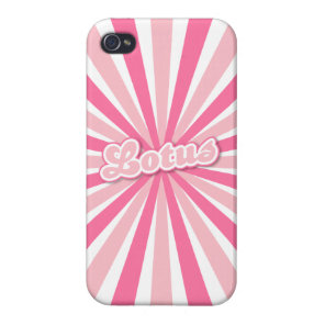 Pink Lotus Cover For iPhone 4
