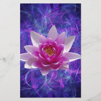 Pink lotus flower on turquoise blue watercolor art stationery pink lotus flower on turquoise blue watercolor art stationery zazzle mightylinksfo