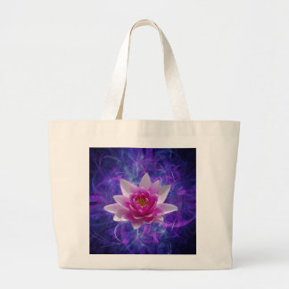 Pink lotus flower and meaning canvas bags