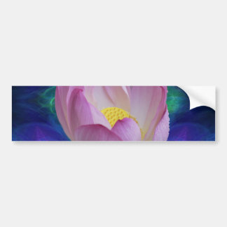 Pink lotus flower and meaning bumper sticker