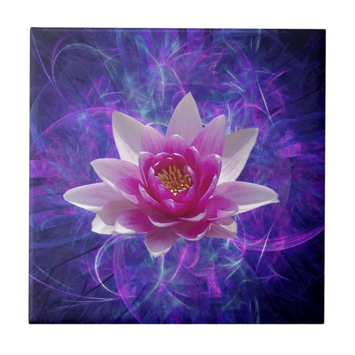 Pink lotus flower and meaning ceramic tile