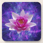 Pink lotus flower and meaning coaster