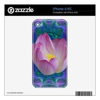 Pink lotus flower and meaning decals for iPhone 4