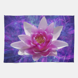 Flower meaning kitchen towels zazzle pink lotus flower and meaning hand towel mightylinksfo