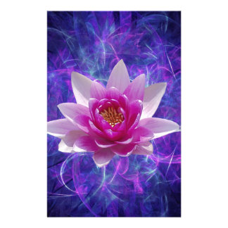 Pink lotus flower and meaning stationery