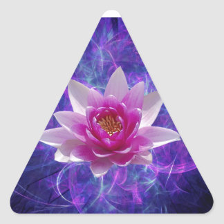 Pink lotus flower and meaning triangle sticker