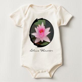 Pink Lotus Flower Baby Bodysuit