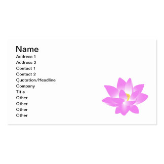 Pink Lotus Flower Business Card Template