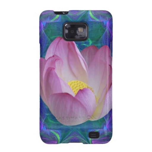 Pink lotus flower galaxy SII case