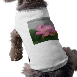 Pink Lotus flower Dog T-shirt