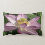 Pink Lotus Flower II Peaceful Floral Lumbar Pillow