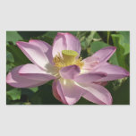 Pink Lotus Flower II Peaceful Floral Rectangular Sticker