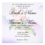 Pink Lotus Flower Invitation