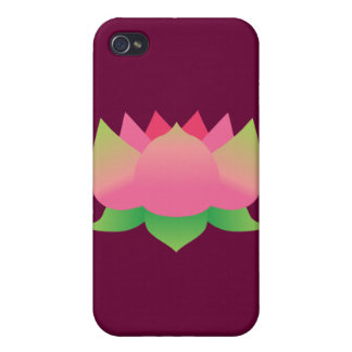 Pink Lotus Flower iPhone 4 Cover