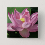 Pink Lotus Flower IV Button
