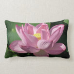 Pink Lotus Flower IV Lumbar Pillow