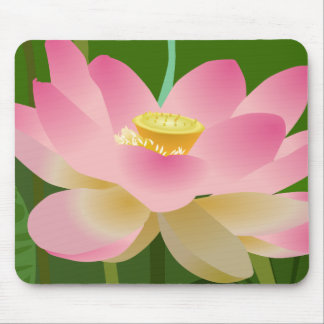 Pink Lotus Flower Mouse Pad