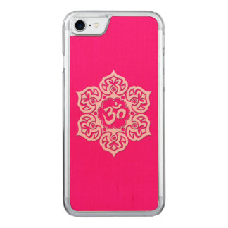 Pink Lotus Flower Om Carved iPhone 7 Case