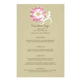 Pink Lotus Flower Om Namaste Yoga Zen Custom Flyer