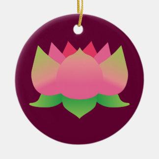 Pink Lotus Flower Christmas Tree Ornament