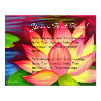 Pink Lotus Flower Painting Invitation