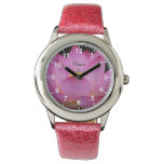 Pink Lotus Flower Peace Design Wristwatch at Zazzle