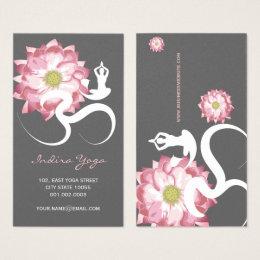 Pink Lotus Flower Spiritual Yoga Om Profile Card