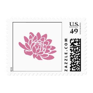 Pink Lotus Flower Stamp (white)