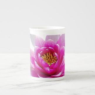Pink lotus flower tea cup