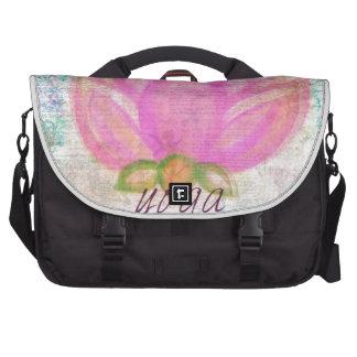 Pink Lotus Flower yoga Computer Bag