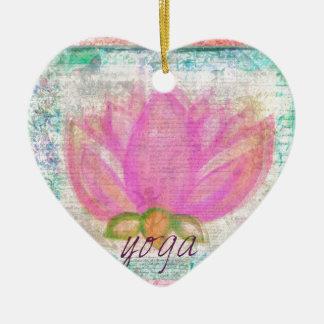 Pink Lotus Flower yoga Christmas Tree Ornaments
