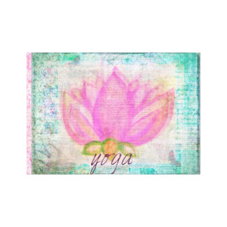 Pink Lotus Flower yoga  picture Canvas Print
