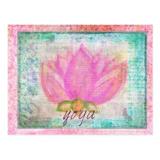 Pink Lotus Flower yoga Postcard