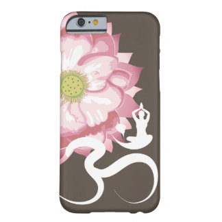 Pink Lotus Flower Yoga White Om Symbol Zen Barely There iPhone 6 Case
